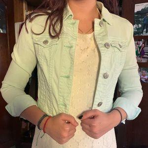 Jean Jacket- mint green